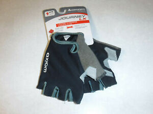 New Axiom Journey LX Padded Black XS Extra Small Mens Short Finger Cycling Glove
