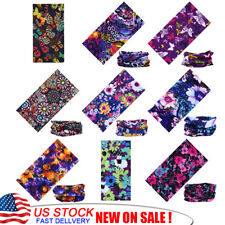 9X Seamless Neck Tube Bandana Floral Buterfly  Face UV Sport Shield Headwear