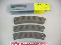 AP808-0,5# 6x Trix H0/DC 62130 Gleis/Gleisstück gebogen (C-Gleis), NEUW+OVP