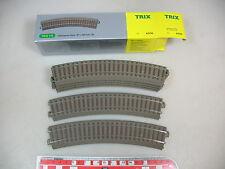 AP808-0,5# 6x Trix H0/DC 62130 Binario/Pezzo pista curvo (pista C), W+
