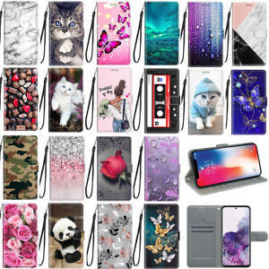 For Samsung Galaxy A12 Cartoons Magnetic Leather Flip Stand Wallet Case Cover