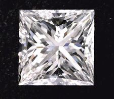 1 ct Princess cut Diamond GIA H SI1 No Fluorescence Excellent cut loose