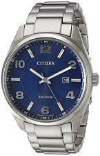 Citizen Eco-Drive Men's BM7320-52L Blue Dial Silver-Tone Bracelet 42mm Watch