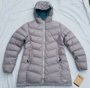 Outdoor Research Women's Transcendent Down Parka Slate Large Gently Used Puffy