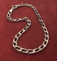 "Vintage Sterling Silver Bracelet 925 7.75"" Chain Italy Milor"