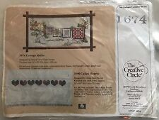 THE CREATIVE CIRCLE Cottage Quilts Counted Cross Stitch Kit #1674