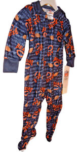 CHICAGO BEARS 18 MONTHS INFANT BLANKET SLEEPER; Official NFL footed pajamas NEW!