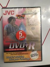 JVC Recordable DVD+R Blank DVD-R 5 Pack New Sealed