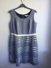 Boden Summer Fun Dress 100% Linen Blue - UK Size 8 - Petite