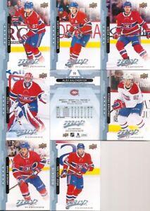 2018-19 UD Upper Deck MVP Montreal Canadiens Complete Blue Parallel Team Set (8)