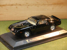 Pontiac Firebird Trans Am in Black 1/43rd Scale