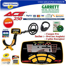 Garrett Ace 250 + Casque audio Pro + Sangle repose bras + Dvd (en Anglais)