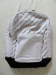 True Religion Unisex Backpack - White with Black True Religion - NWT
