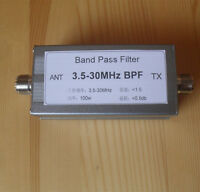 New 3.5-30MHz BPF Band Pass Filter For Reduce Shortwave Interference Radio Ham