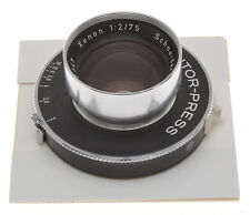 Schneider 75/2 75mm F:2 Xenon on Prontor Press Shutter, never seen another