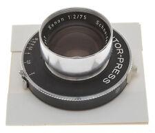 Schneider 75/2 75mm F:2 Xenon on Prontor Press Shutter, never seen another