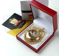 PARAS Parachute Regiment Gold Pocket Watch Paratrooper British Army Lux Gift Box