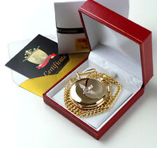PARAS Parachute Regiment Gold Pocket Watch Paratrooper British Army Lux Gift Box