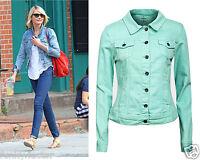 New Ladies Womens Girls Celeb Inspired Jeans Denim Jacket Coat UK Size 8-14