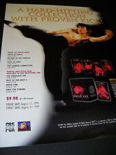 BRUCE LEE Hard Hitting High Kicking 1999 PROMO POSTER AD mint condition