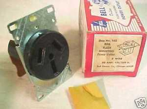 NEW! BELL ELECTRIC FLUSH MOUNT 50A POWER OUTLET #162