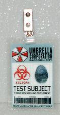 Resident Evil ID Badge-Umbrella Corp Test Subject zombie prop costume
