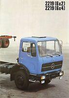 Poster Prospekt 1978 Mercedes Lkw 2219 6x2 6x4 12/78 brochure truck Lastwagen