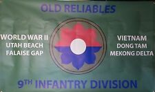 9TH INFANTRY DIVISION  3'X5' 2PL POLYESTER 1-SIDED INDOOR 4 GROMMET FLAG