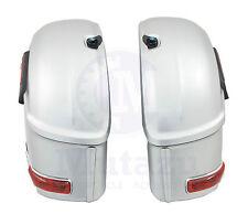 New Mutazu Silver RS Hard Saddle Bags Fits Most Honda VTX R F N C F T 1300 1800