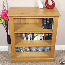 Oak Bookcase Two Shelves Solid Oak CD/ Dvd Book Storage Display Unit