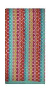 "Pillowfort Bath Towel Diamond Pattern  Cotton Colorful 27"" x 50"" Jewel Tones"