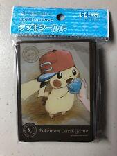 Pokemon Center Japan - Ash's Pikachu - Black (64 sleeves/pack)
