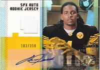 OMAR JACOBS RC 2006 SPX GOLD #198 JERSEY AUTO #183/250 FB3344
