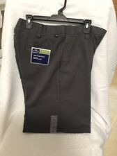 New Dockers Mens Flat Front Relaxed Fit Chino Shorts  Size 36 Color Blue