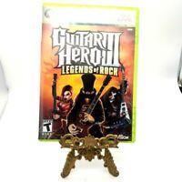Guitar Hero III Legends Of Rock Microsoft Xbox 360 Complete Game Case Manual