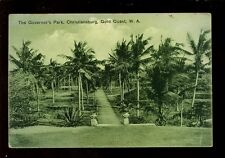 West Africa Gold Coast Christiansburg Governor's Park 1920 PPC pub Basel Mission