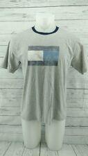 Gray Tommy Hilfiger T Shirt Big Logo Blug Flag Tee Jeans Sport  Large 122617