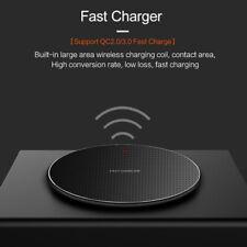 Быстрый Qi беспроводной зарядное устройство для зарядки подушечка коврик для iPhone 11 8 XS Samsung S10 Note 10+