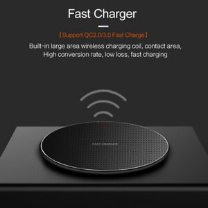 10W Qi Wireless Charger Charging Pad Mat For i Phone 11 8 XS Samsung S10 Note 10