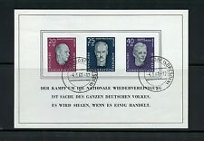 Germany Ddr #B35a S/S (Ge579) Portraits of 1957, Used, Fvf, Cv$110.00