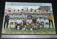 CLIPPING POSTER FOOTBALL 1985-1986 D2 FC SETE GEORGES-BAYROU