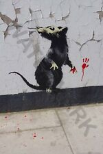Banksy Rat Detail Graffiti Street Art Giant Canvas Art Print
