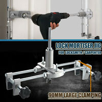 90MM Mortice Lock Jig Set Mortiser Wood Door Fitting Slot Drill Carbide