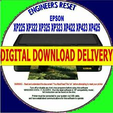 EPSON XP225 XP322 XP422 XP423 XP425 WASTE INK PAD COUNTER RESET DIGITAL DOWNLOAD