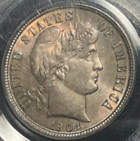 1904 Barber Silver Dime - PCGS MS65 - Beautifully Toned