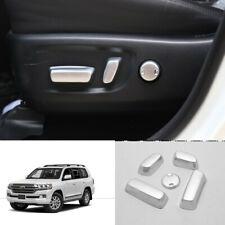 For Toyota Highlander 2015-2019 ABS silver Seat adjust Handle Button Trim 5pcs