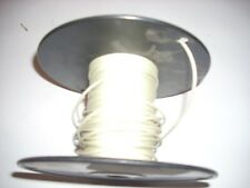 Machine Tool Wire #22 Gauge Electrical White w Black Roll 15oz