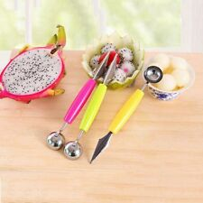 Ball Tool Ice Cream Melon 2 In 1 Scoop Fruit Carving Spoon