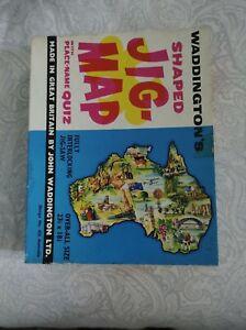 Vintage Waddington's Jig-Map Australia Complete no 425