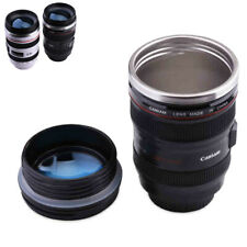 Creative Camera Lens Coffee Mug Cup DSLR Stainless Steel Tea Travel Thermos Hot